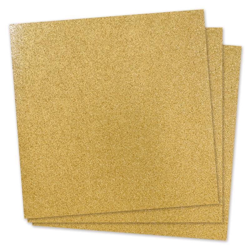 CTMH Gold Glitter Paper