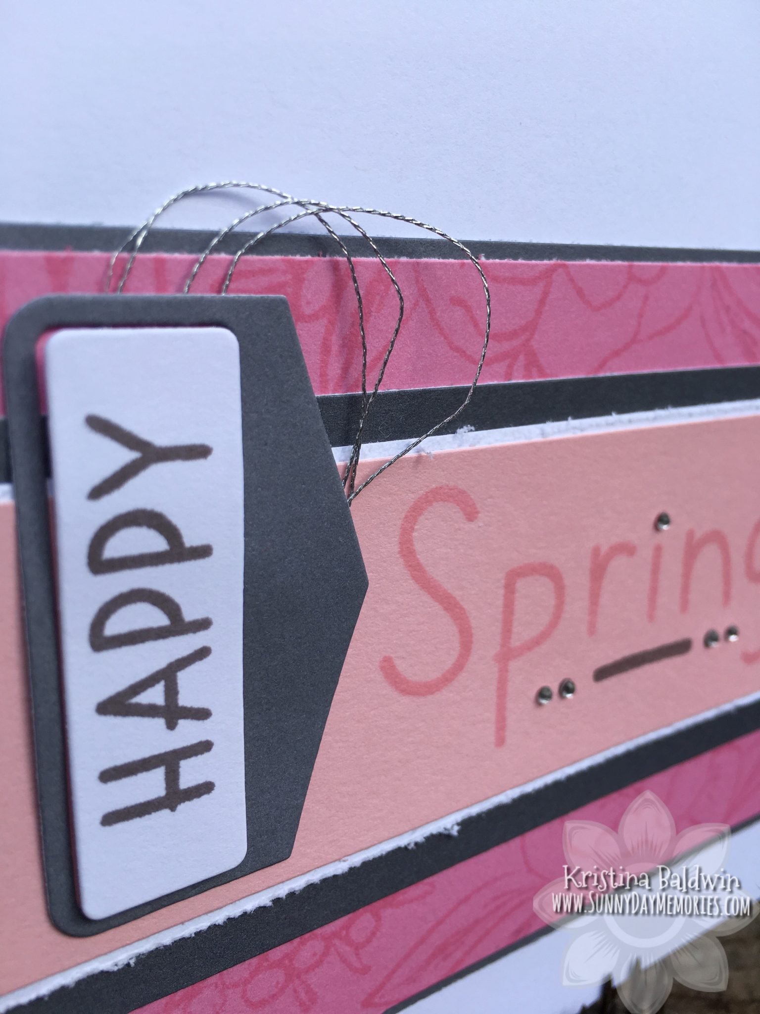 Happy Spring Card Closeup