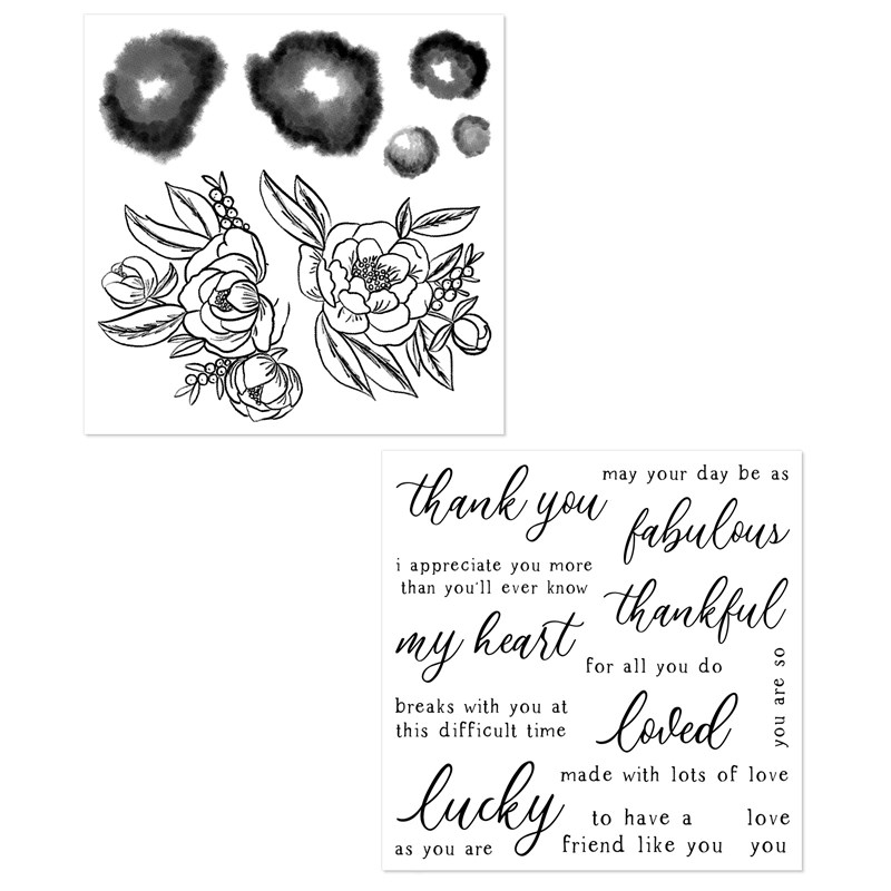 CTMH Love Blossoms Stamp Set