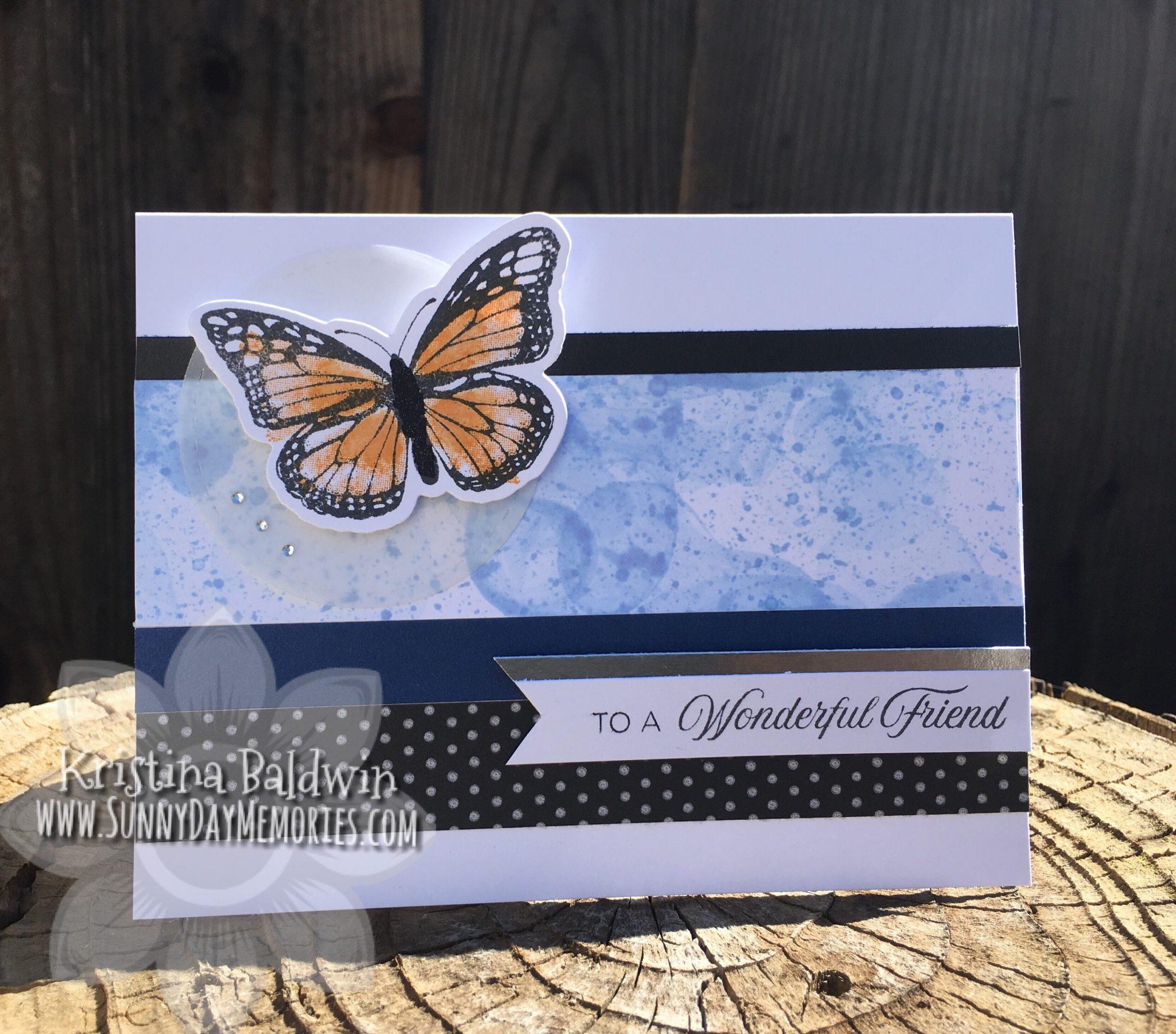Butterfly Friendship Bubble Technique Card