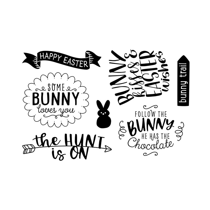 CTMH Bunny Trail Stamp Set