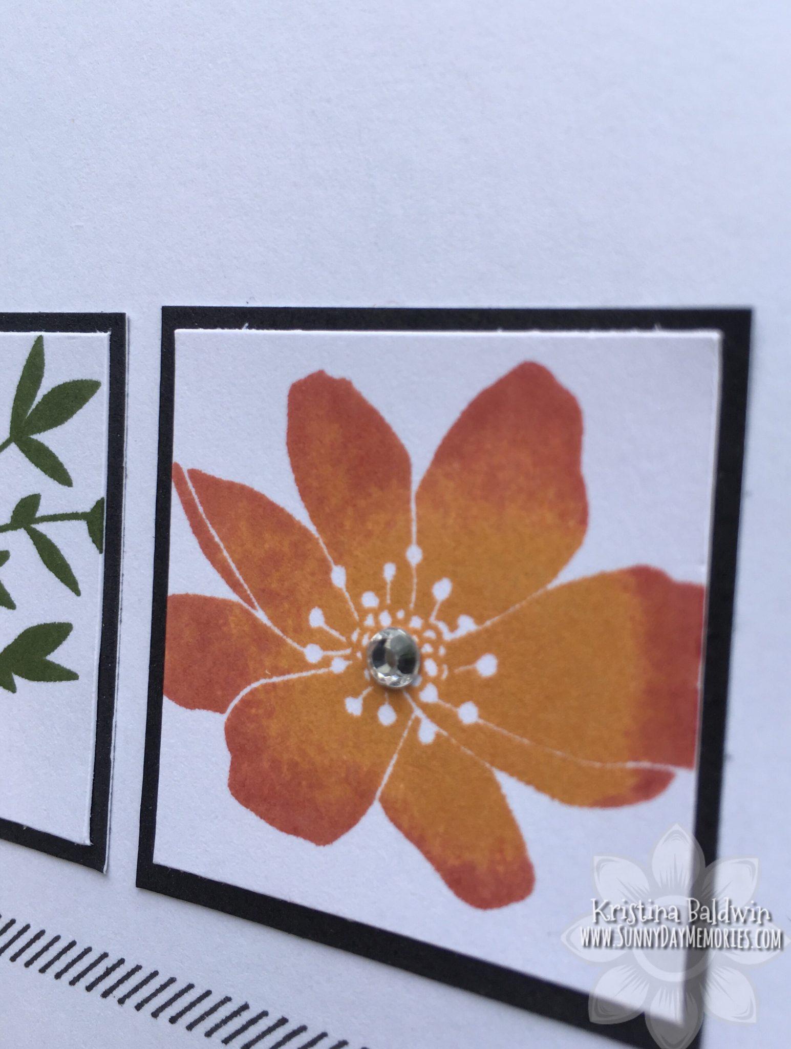 Love So Sweet Floral Card Closeup