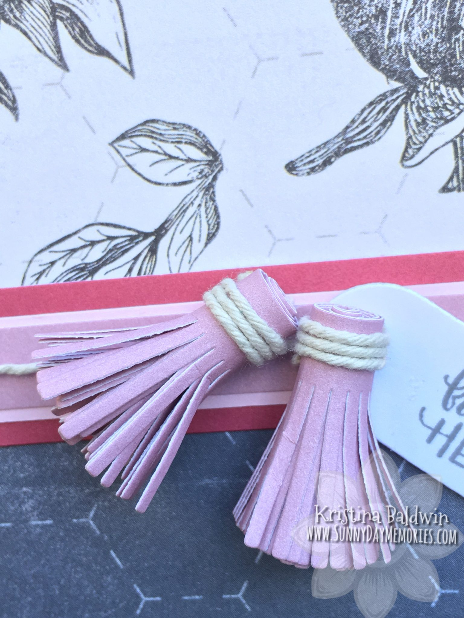 From the Heart Card Tassel Closeup