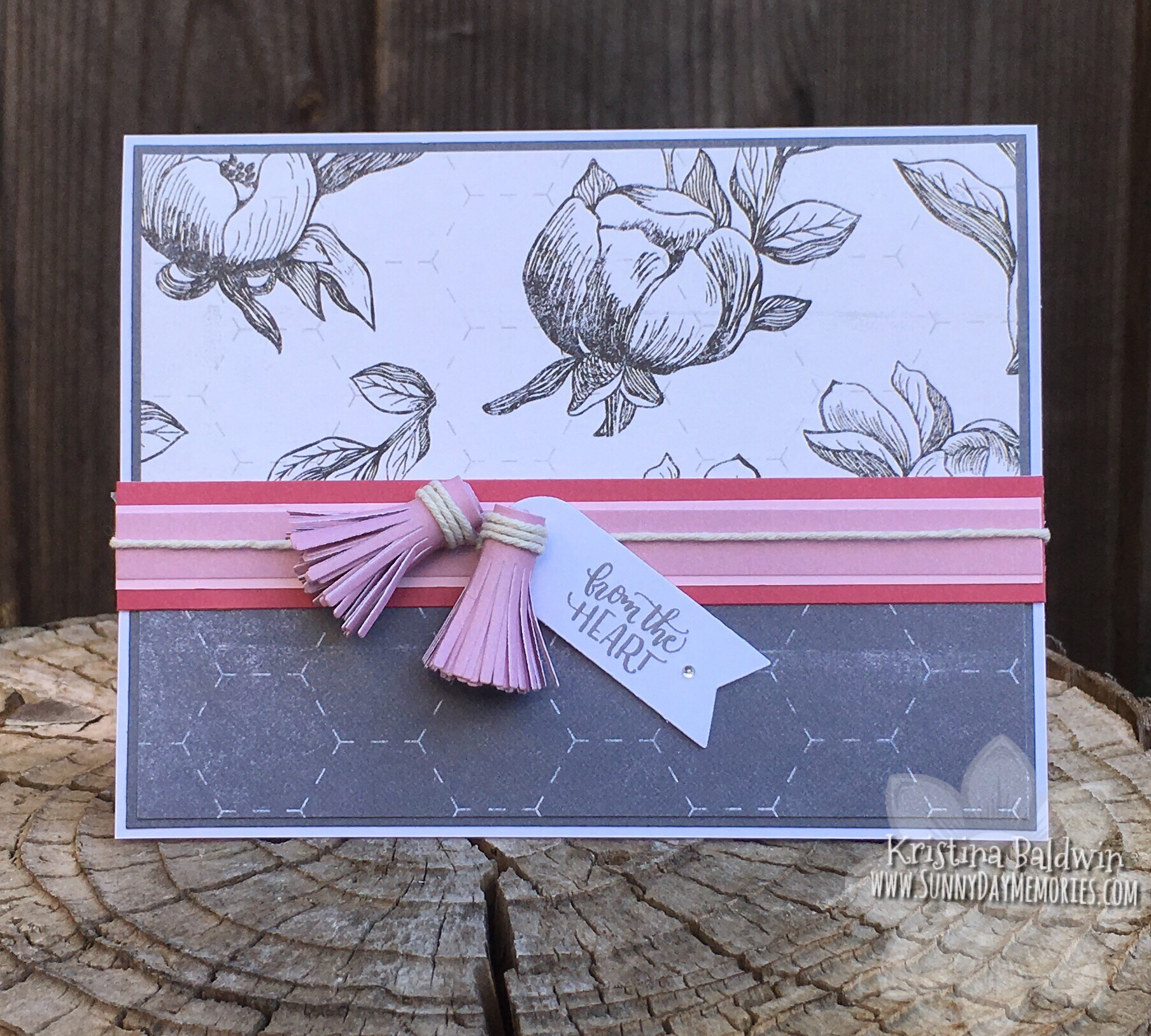 From the Heart Tassel Card