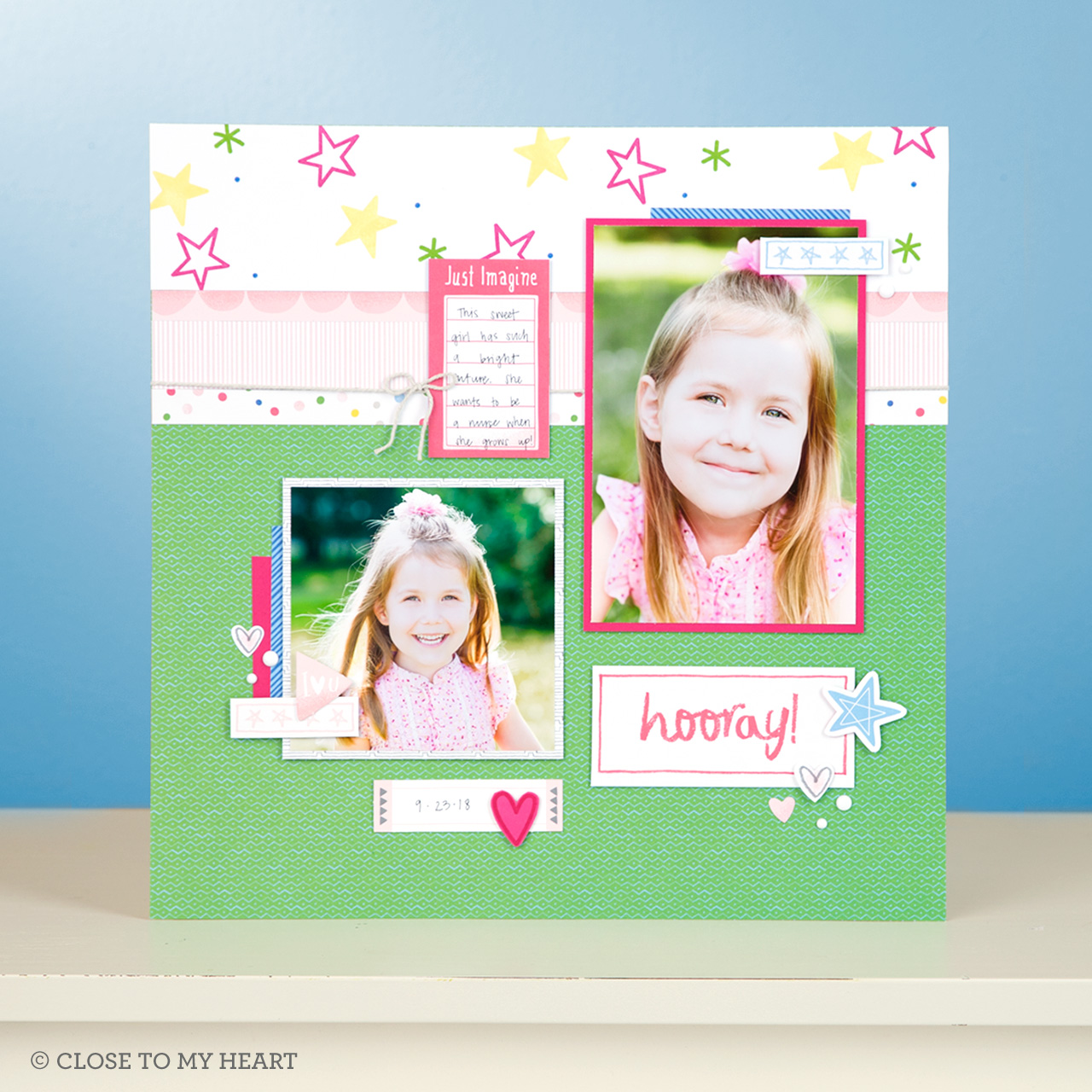 CTMH Hooray Scrapbook Layout