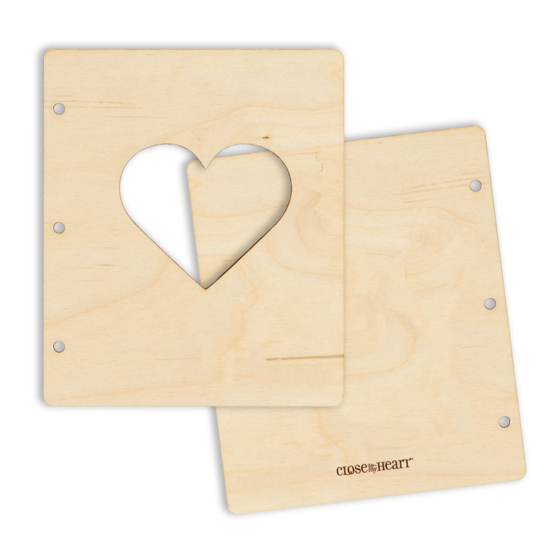 CTMH Wooden Heart Mini Album Cover