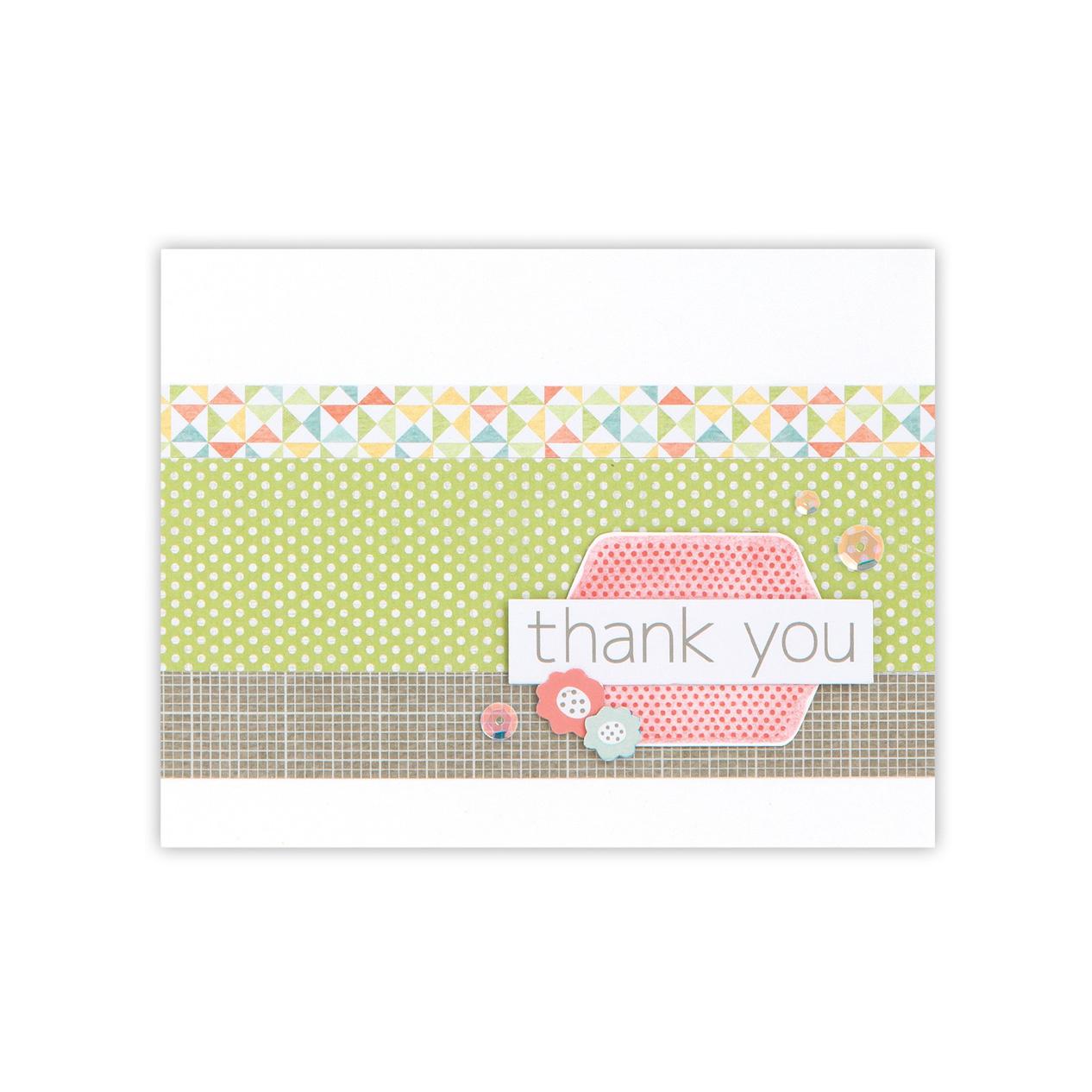 CTMH Zoe Thank You Card