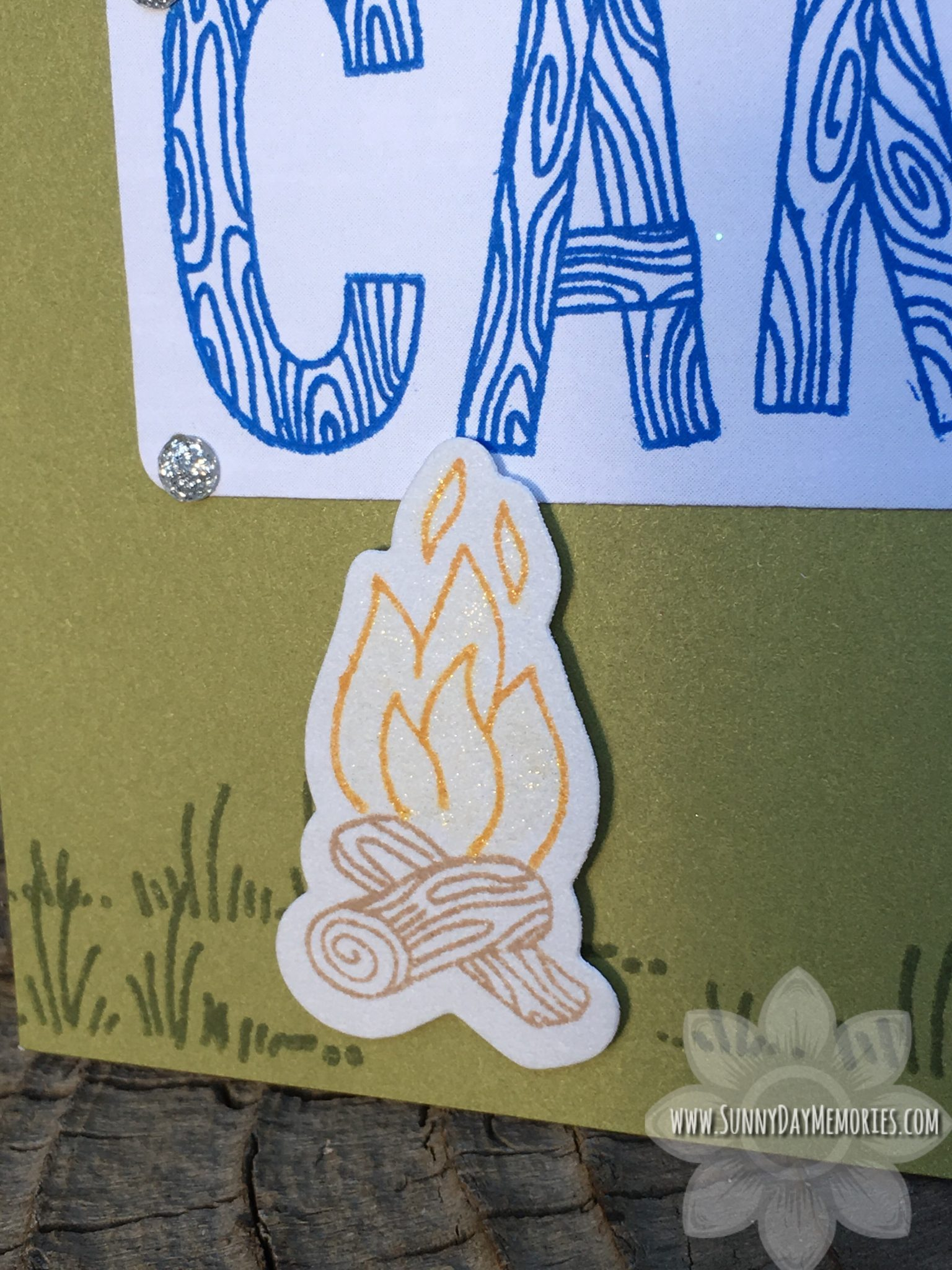 Happy Camper Card Closeup