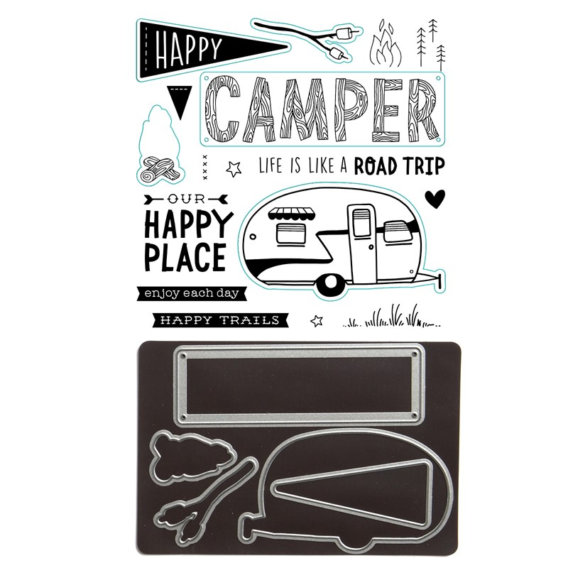 CTMH Happy Trails Stamp Set with Thin Cuts Dies