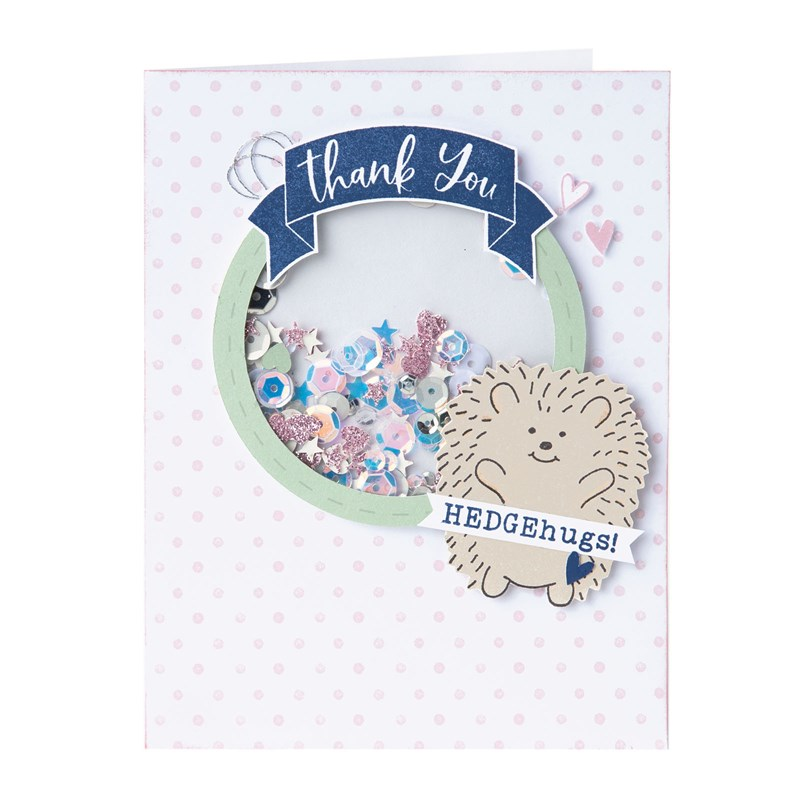 CTMH Hedgehugs Thank You Shaker Card
