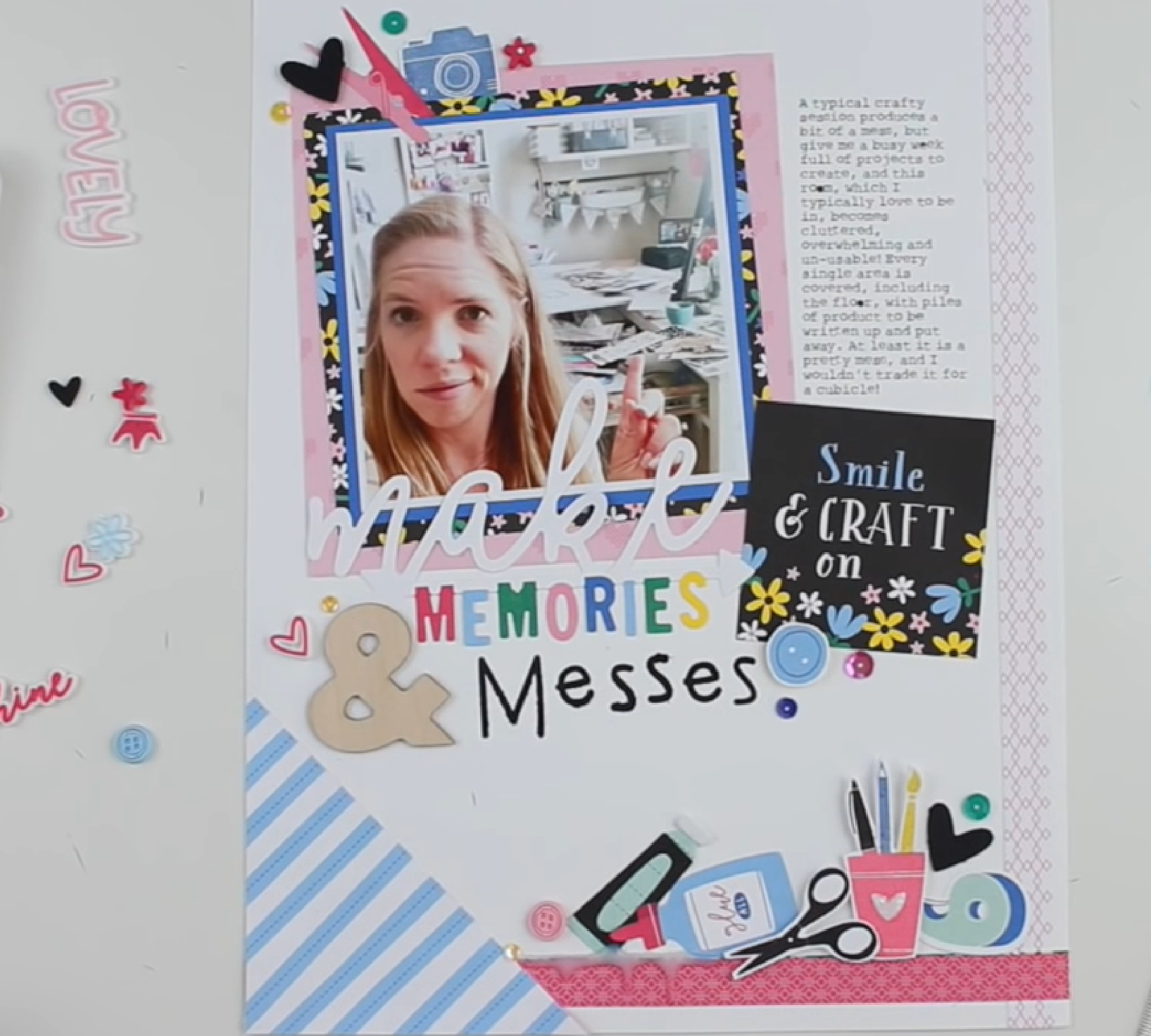 Make Memories & Messes Scrapbook Layout