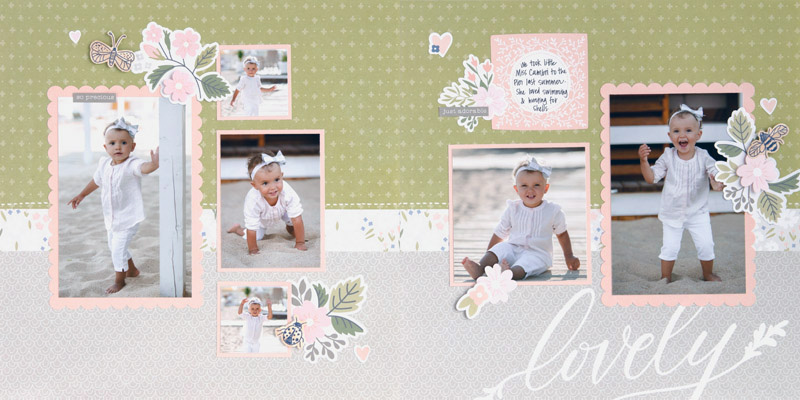 CTMH May Sweet Girl Craft with Heart Layout