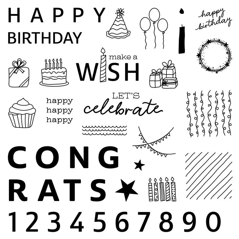 CTMH Birthday Joy Stamp Set