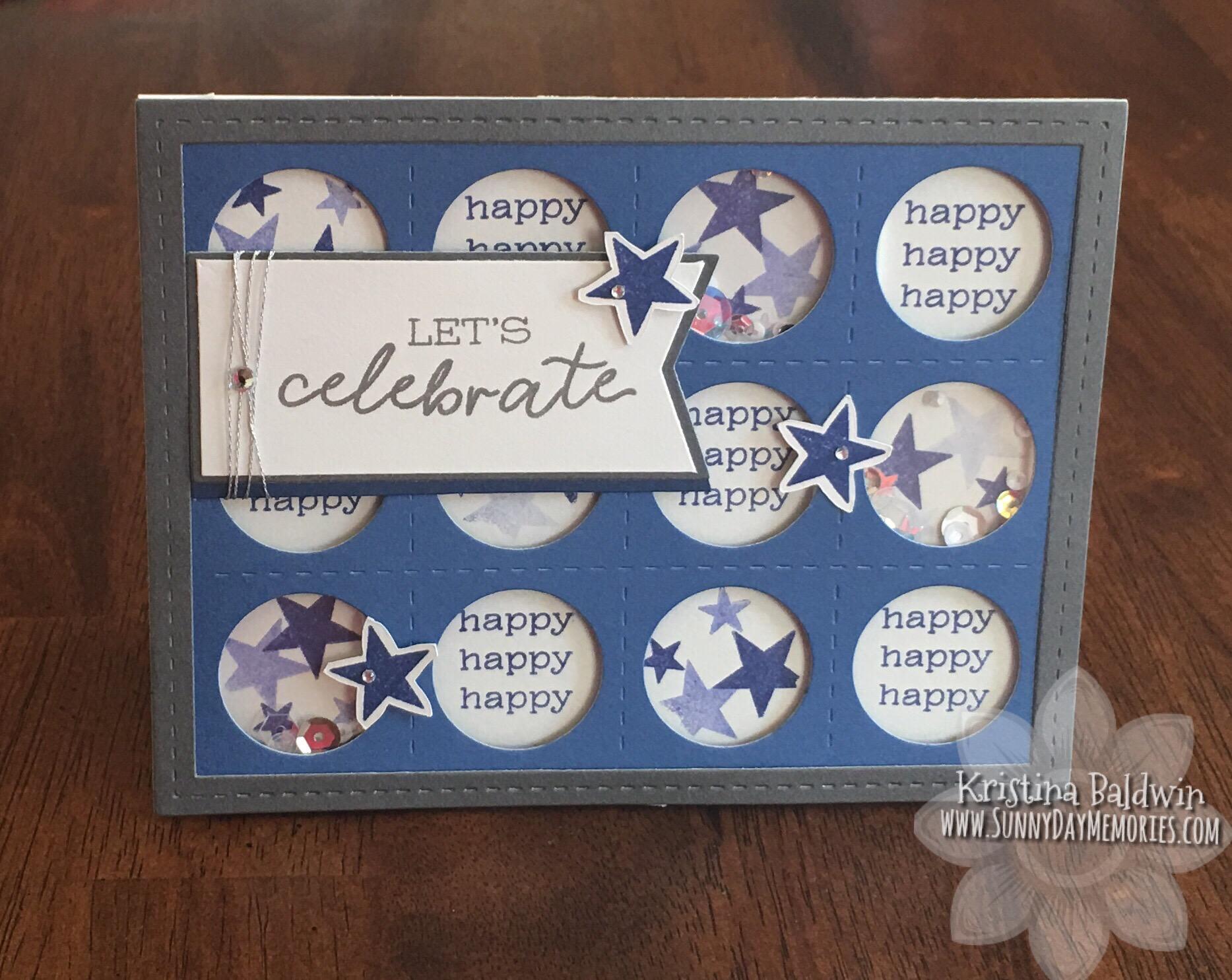 CTMH Birthday Shaker Card
