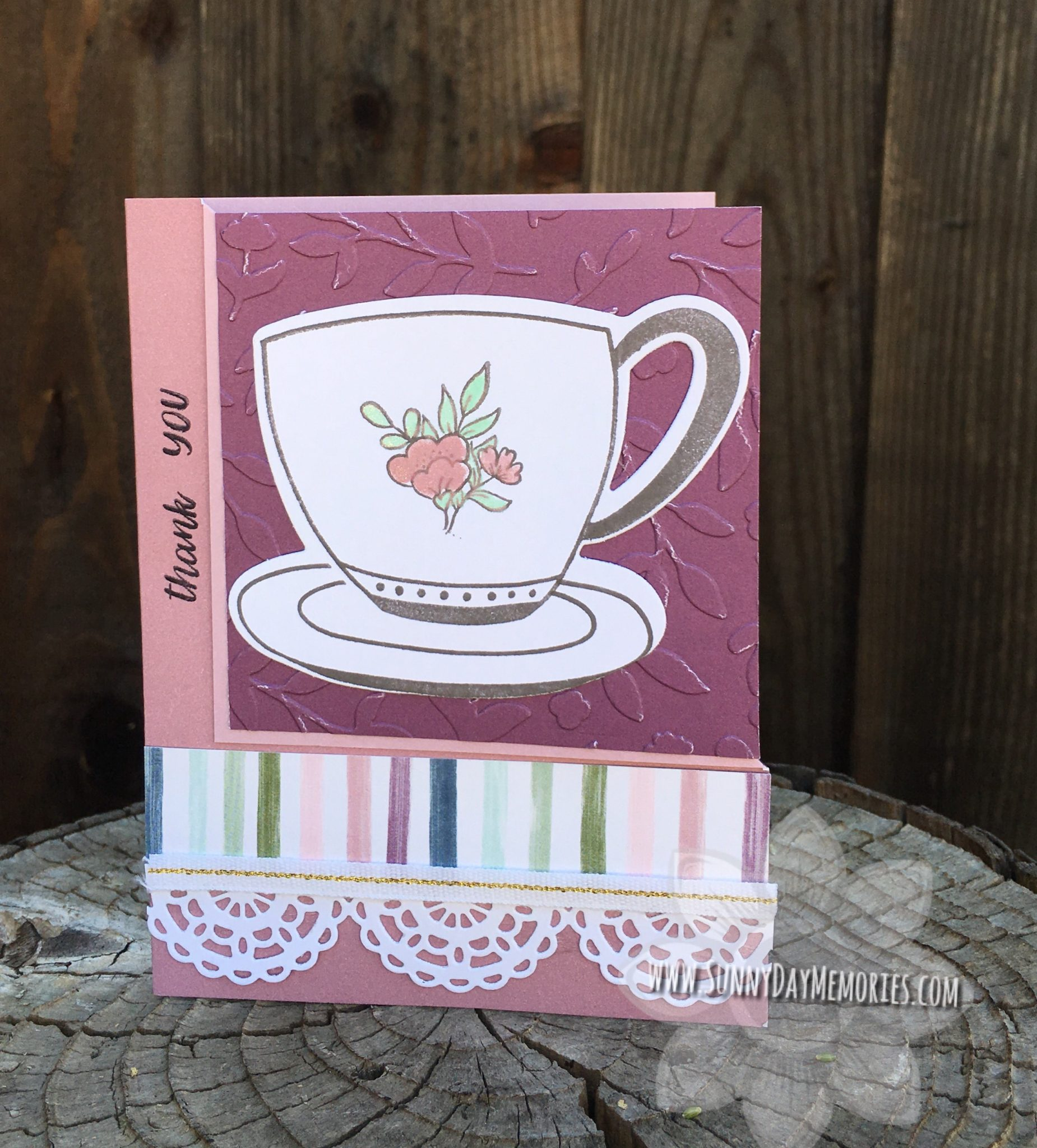 CTMH Cup of Tea Thank You Card