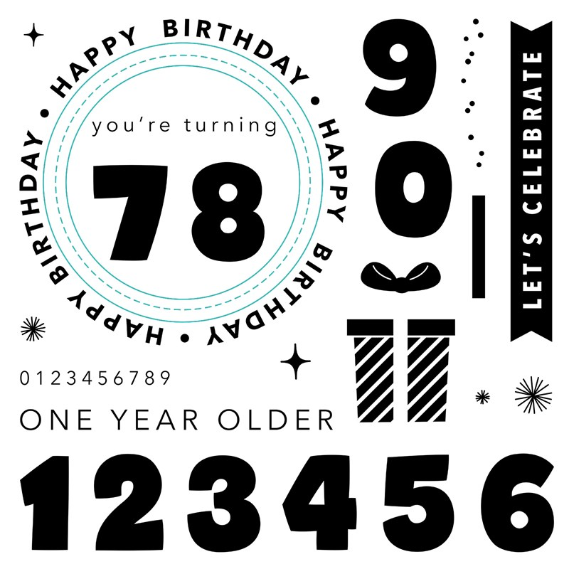 CTMH One Year Older Stamp Set
