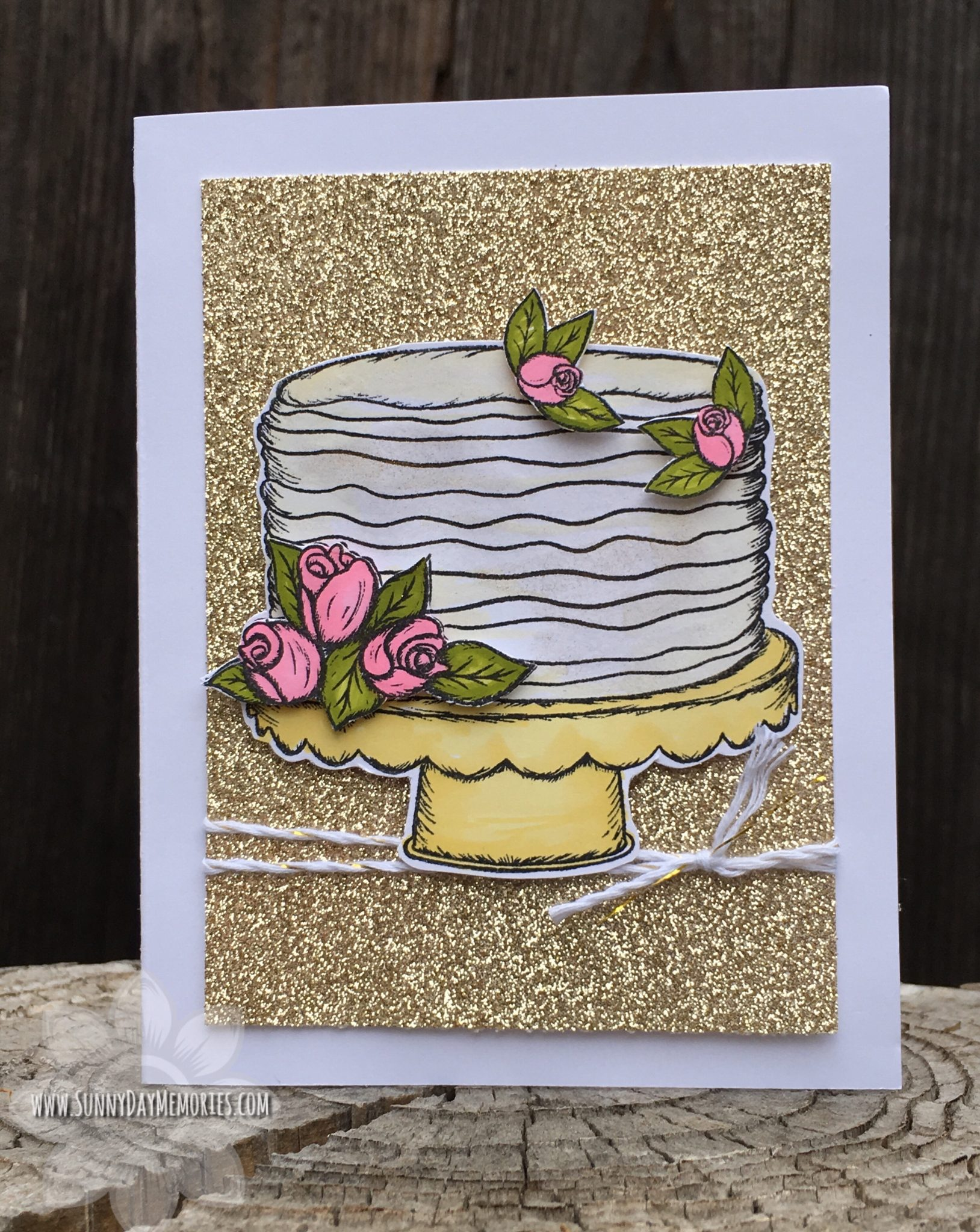 CTMH It's Your Day to Sparkle Cake Card