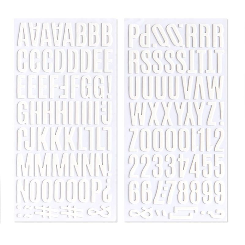 CTMH White Alphabet Foam Stickers