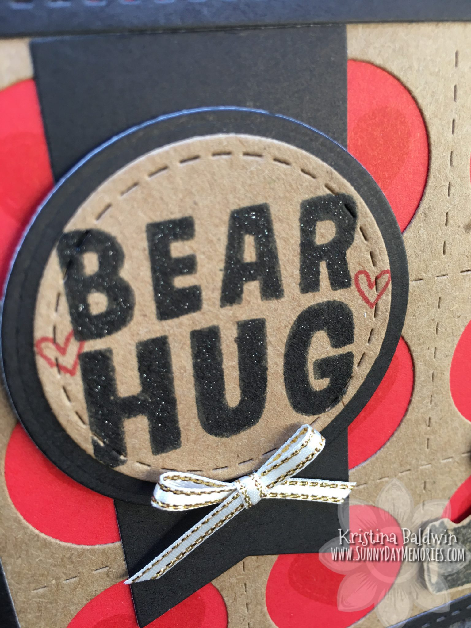 CTMH Bear Hug Card Closeup