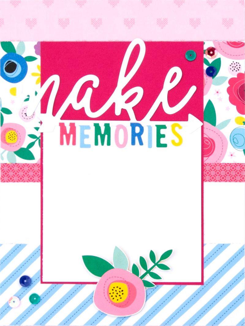 CTMH Make Memories Craft On Album Page