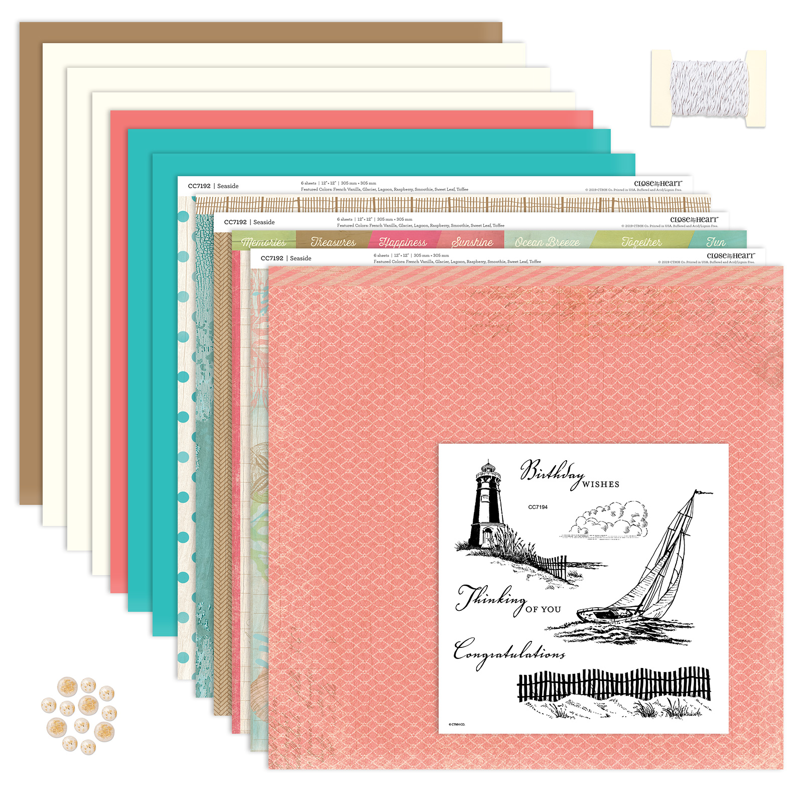 CTMH Seaside Kit with Stamp Set