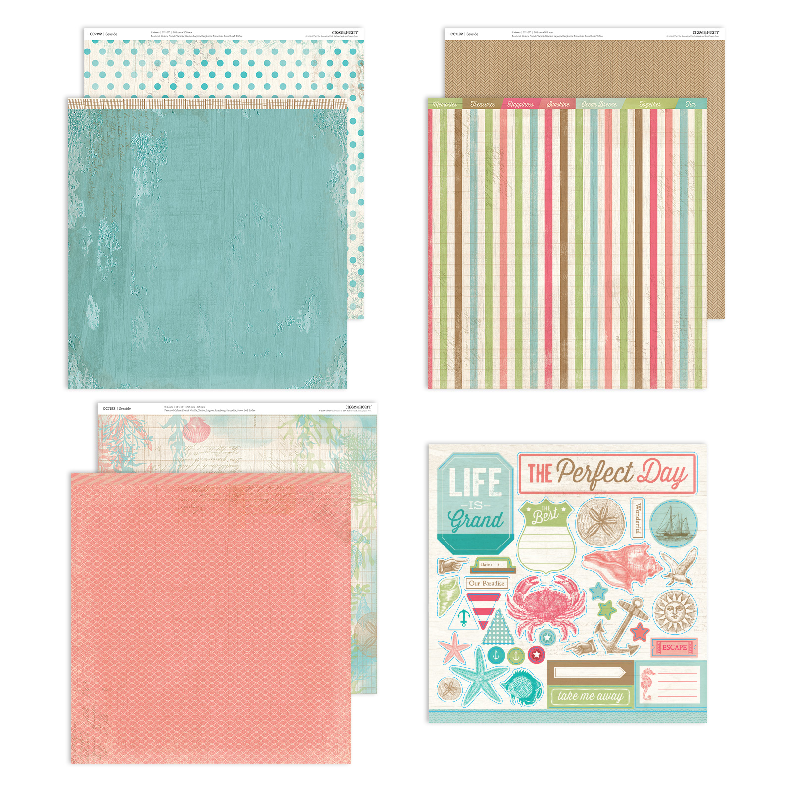 CTMH Seaside Paper Pack