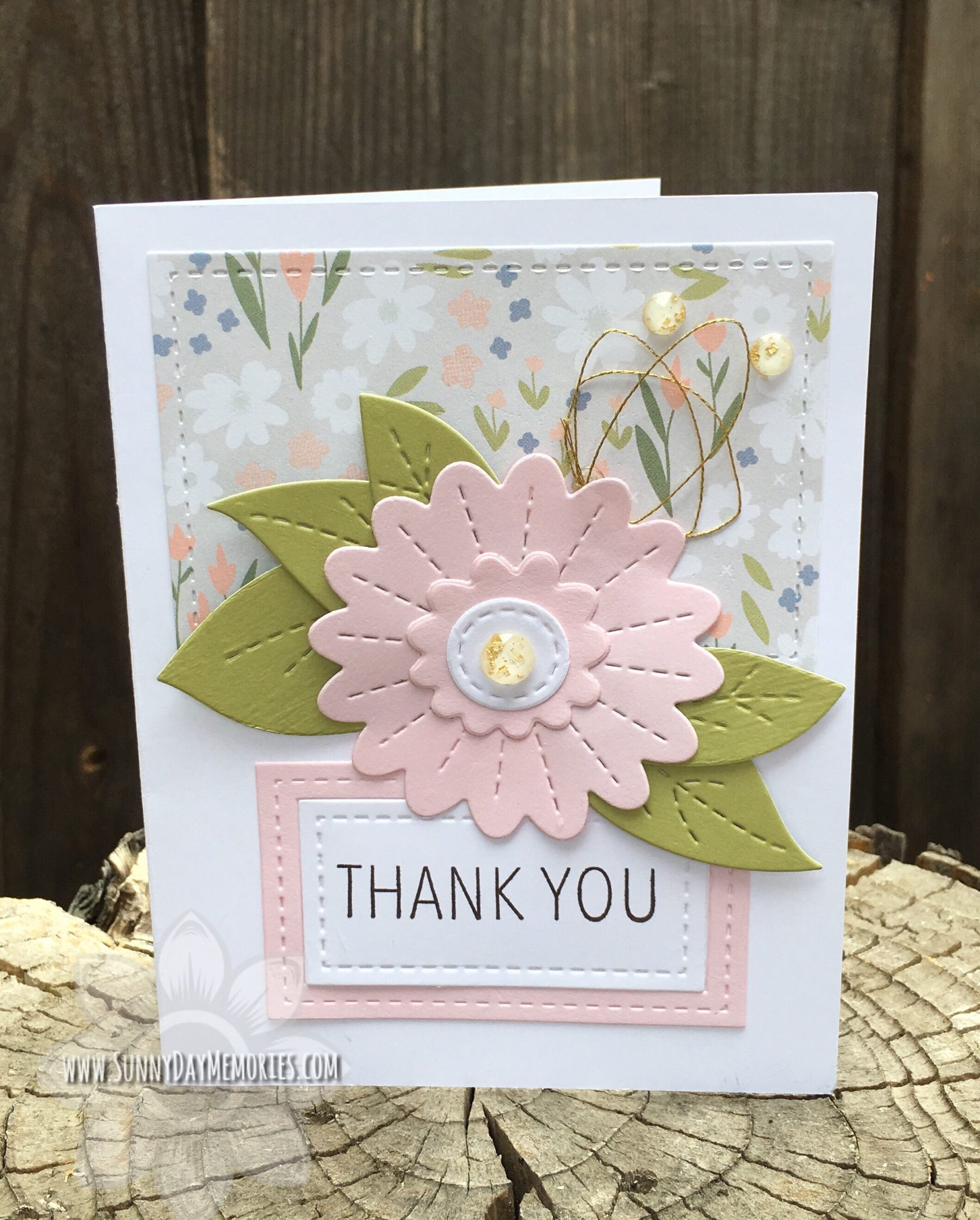 CTMH Thank You Floral Card