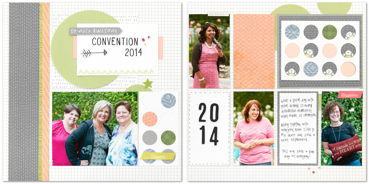 CTMH Convention Scrapbook Layout