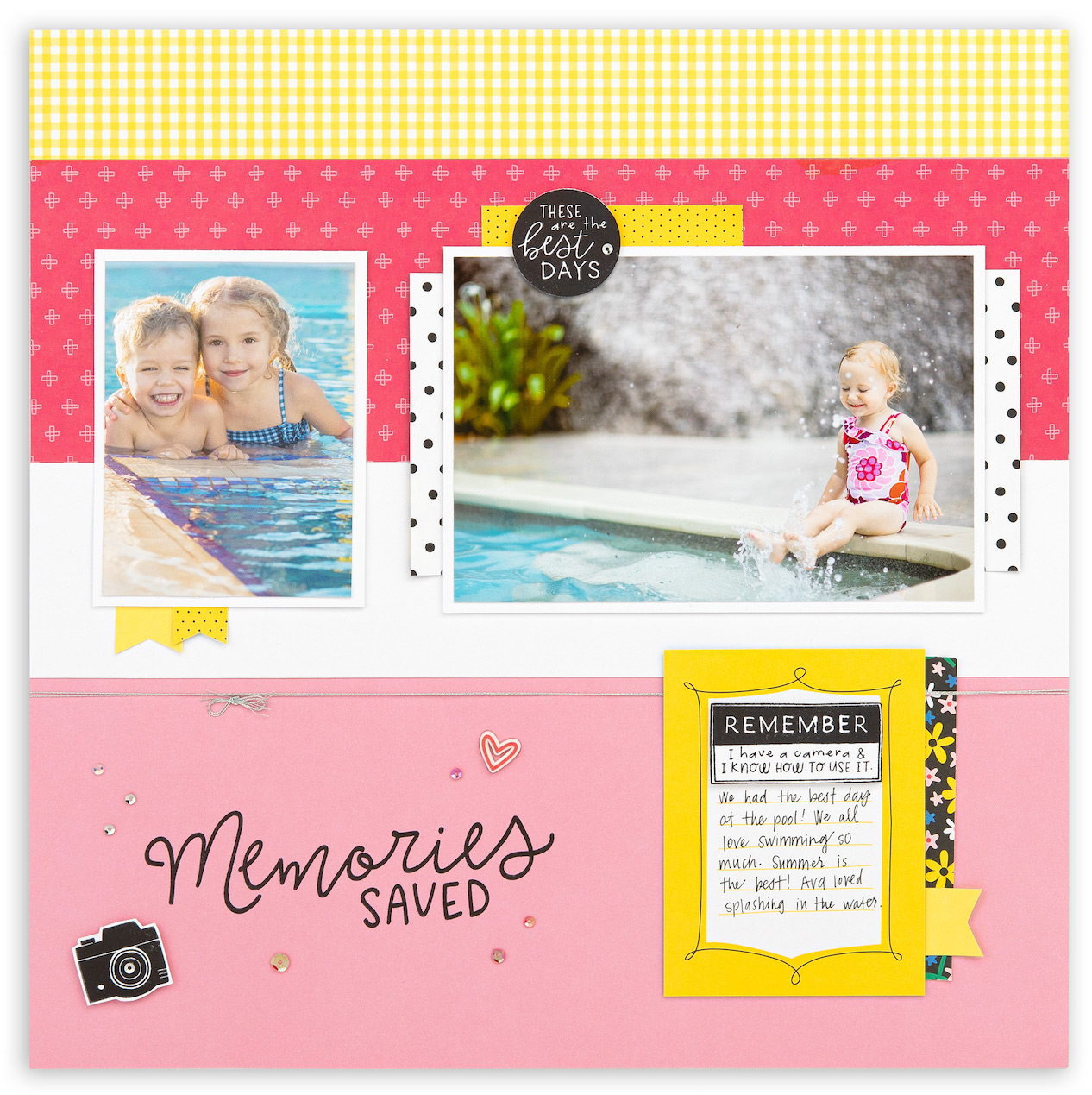 CTMH Memories Scrapbook Layout