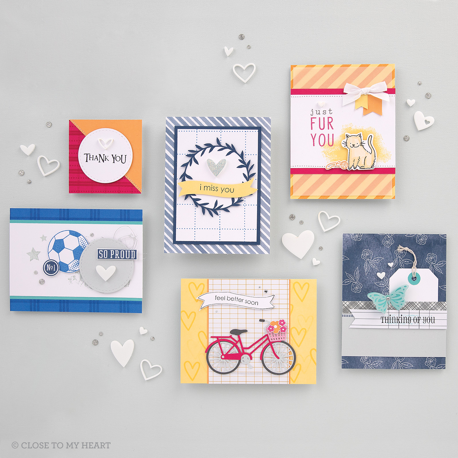 CTMH Stamped Card Samples