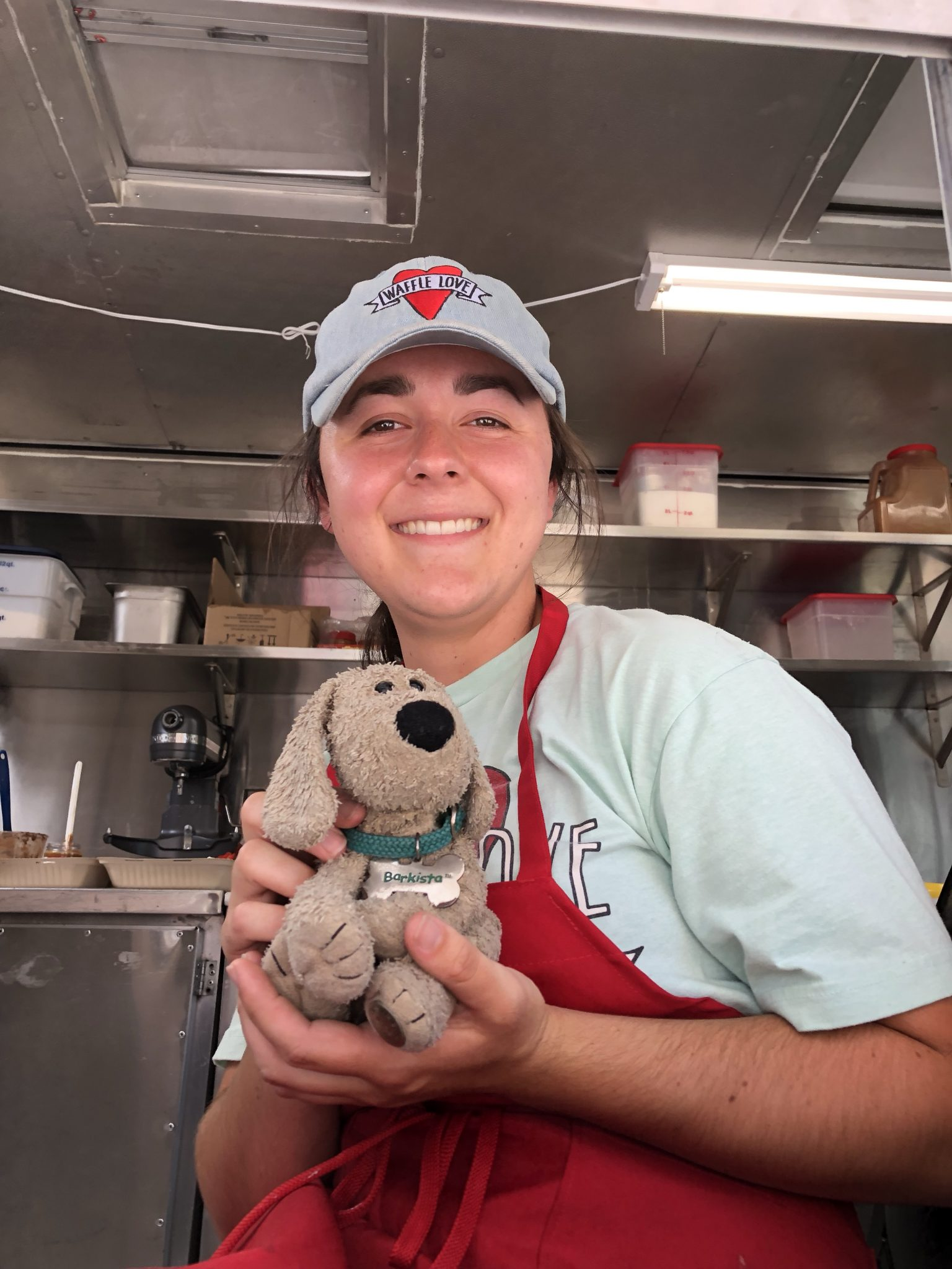 Brown visits Waffle Love Truck
