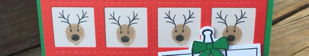CTMH A Dash of Joy Santa & Reindeer Card