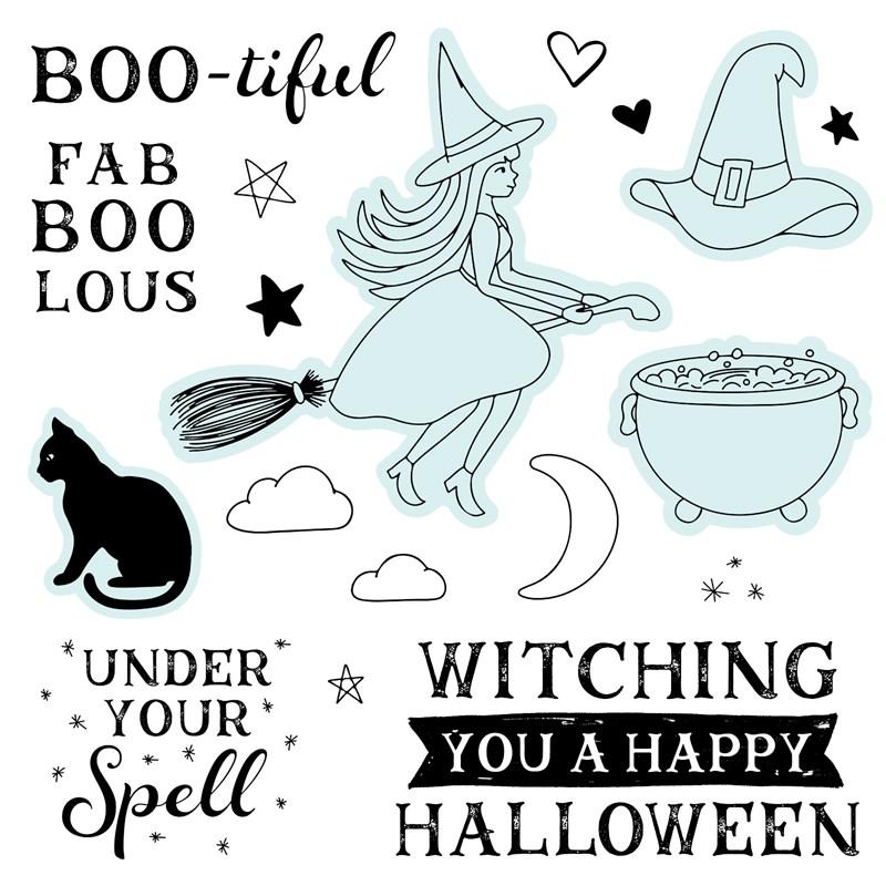 CTMH Fa-BOO-lous Halloween Stamp Set