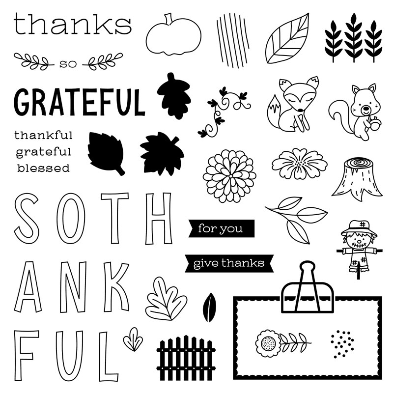CTMH Giving Thanks Stamp Set