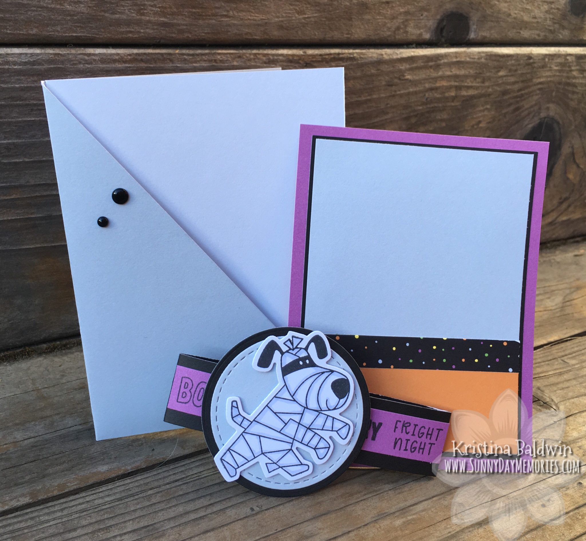 CTMH Frightful Friends Double Pocket Card Pieces
