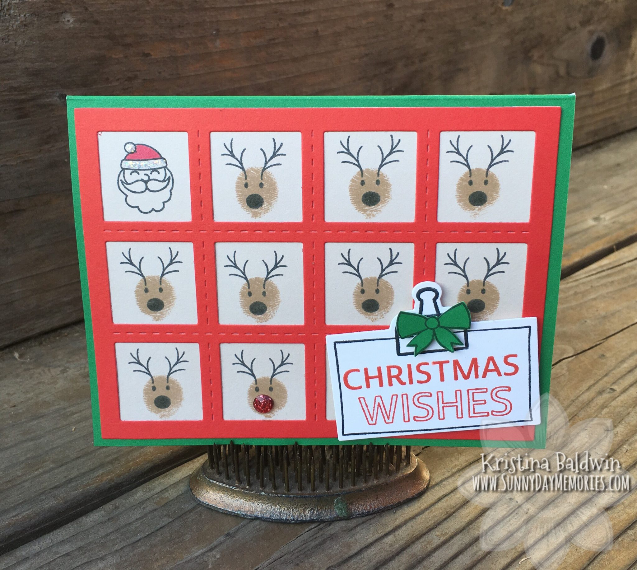 CTMH A Dash of Joy Santa & Reindeer Card