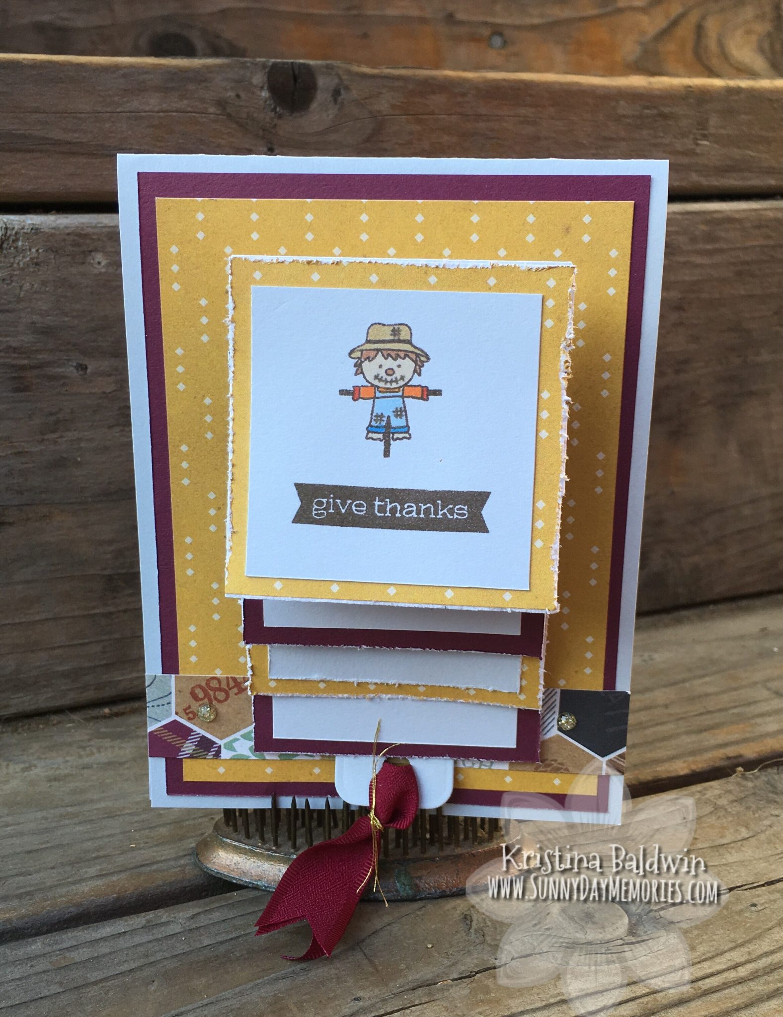 CTMH Giving Thanks Waterfall Card