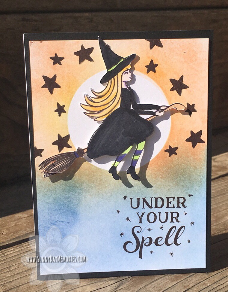 CTMH Under Your Spell Halloween Card