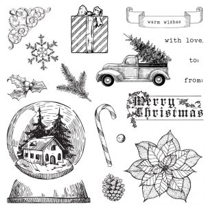 CTMH Holiday Cheer Traditional Holiday Stamp Set
