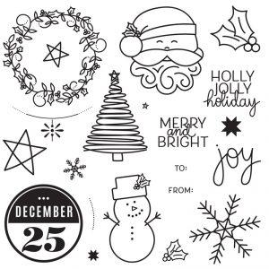 CTMH Holiday Cheer Whimsical Holiday Stamp Set