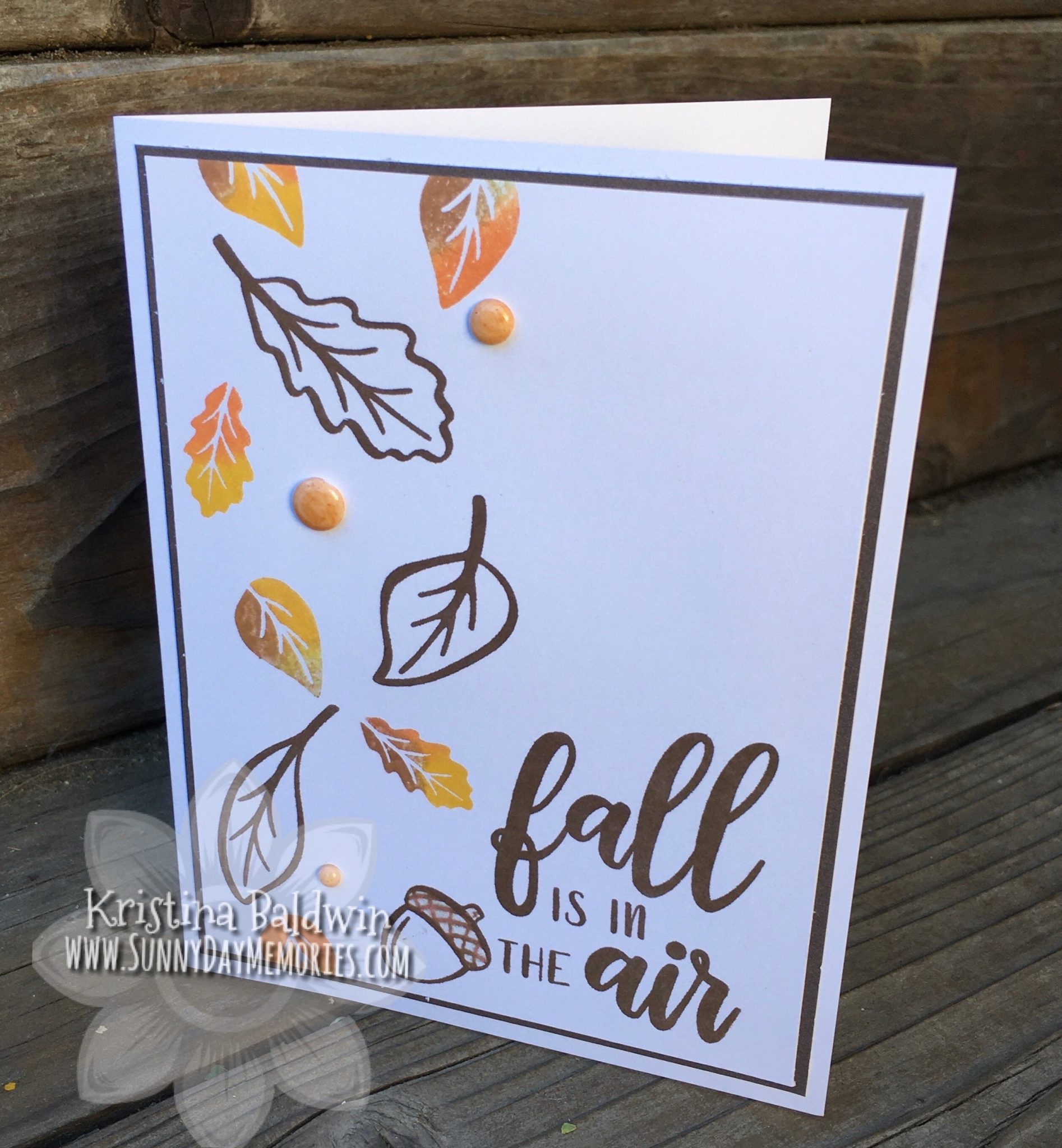 CTMH Autumn is in the Air Card