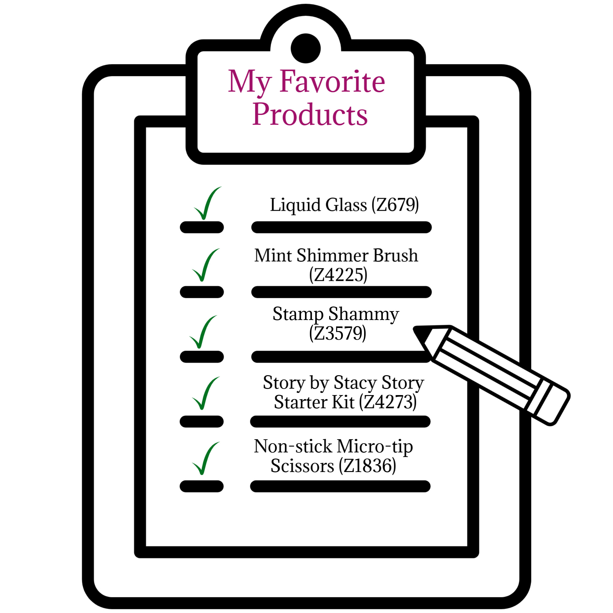Favorite CTMH Products Checklist