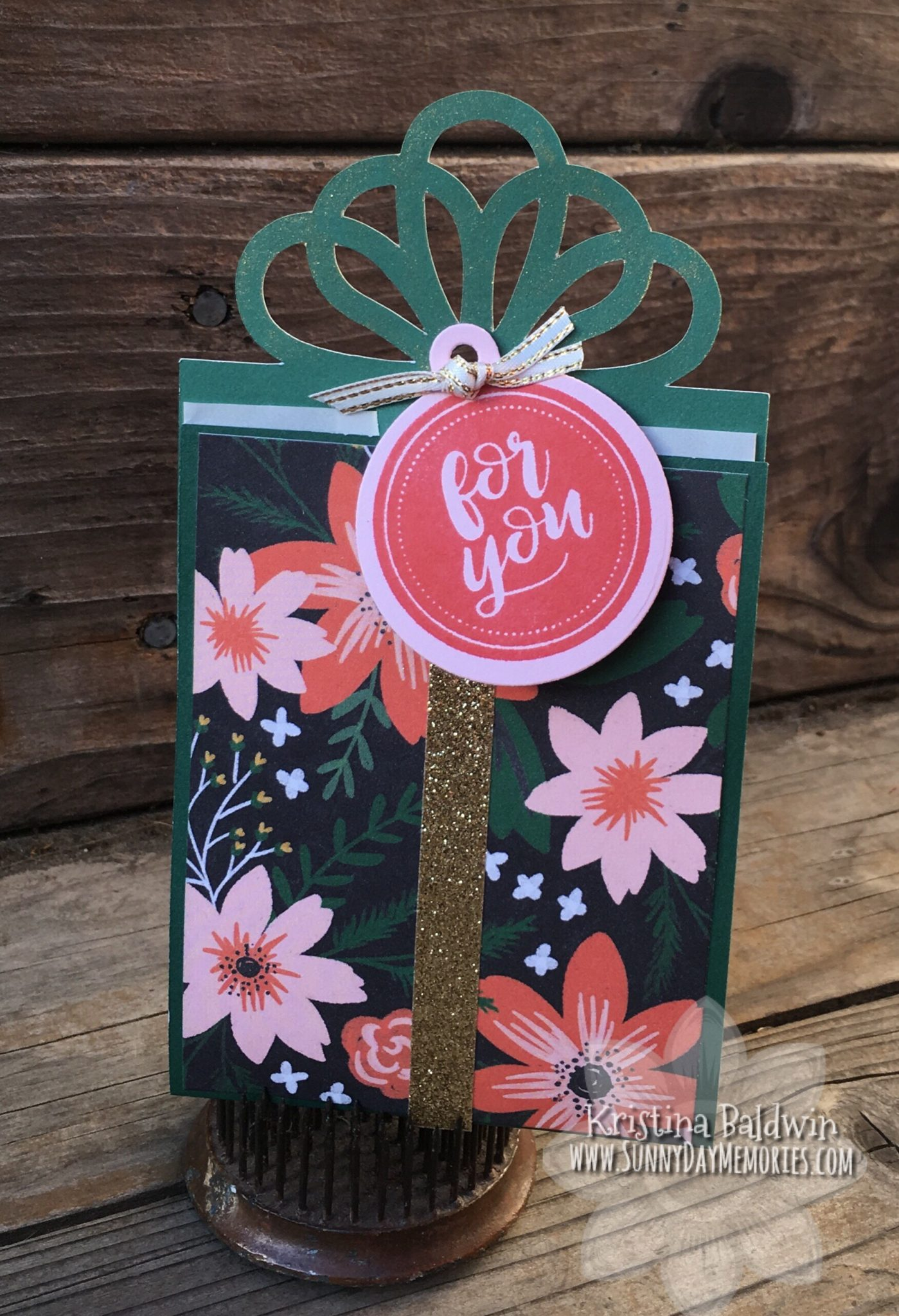 CTMH Artiste Present Gift Card Holder