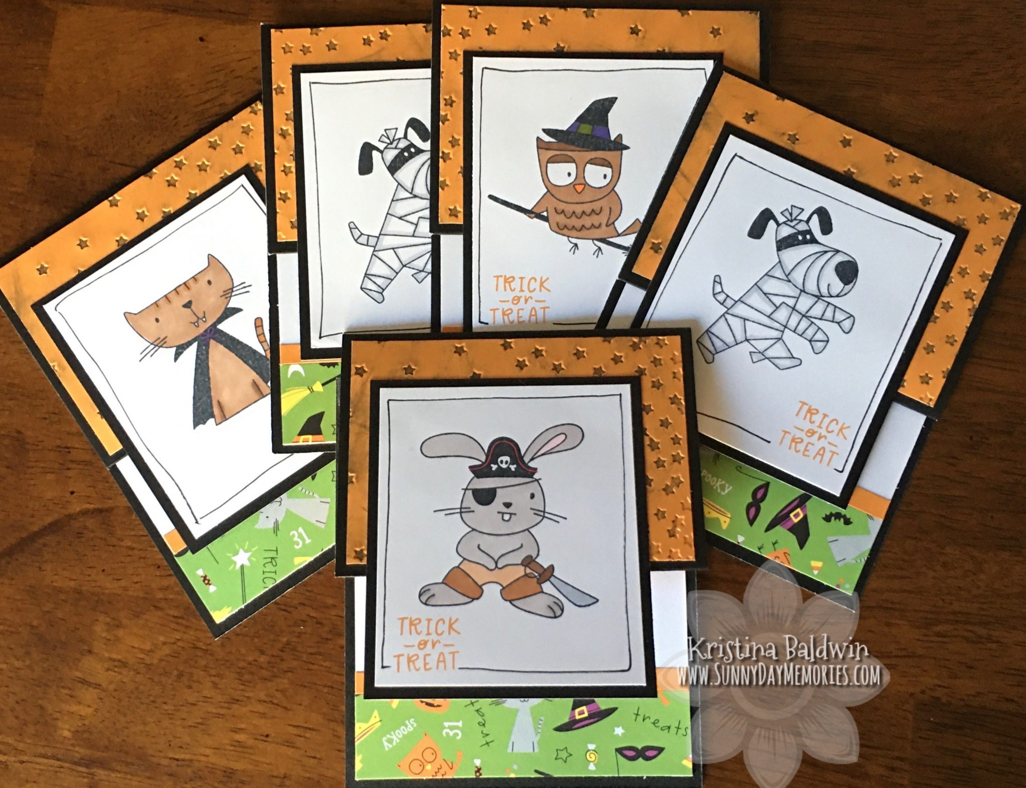 CTMH Spooktacular Frightful Friends Gift Card Holders
