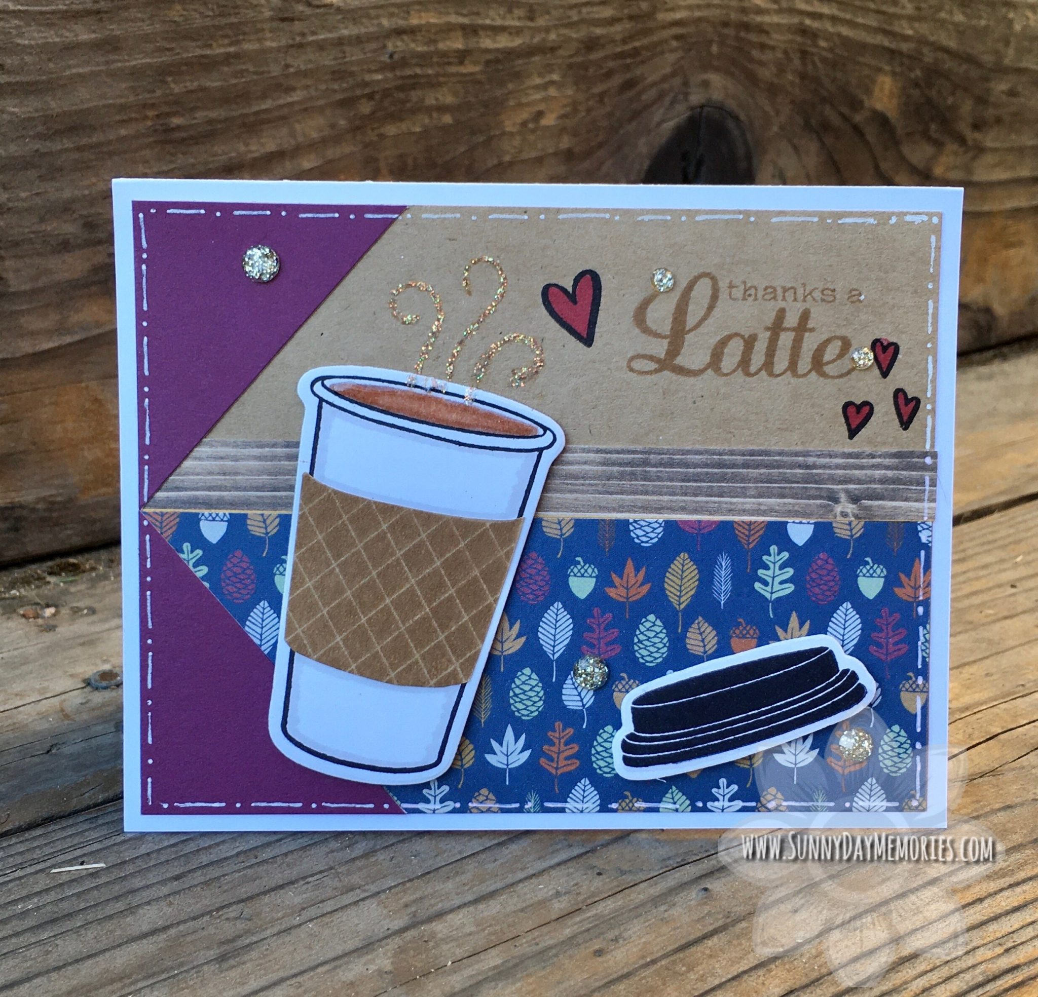 CTMH Perk Up Thanks a Latte Card