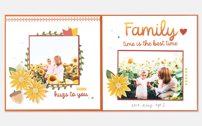 CTMH Family Time Scrapbook Layout