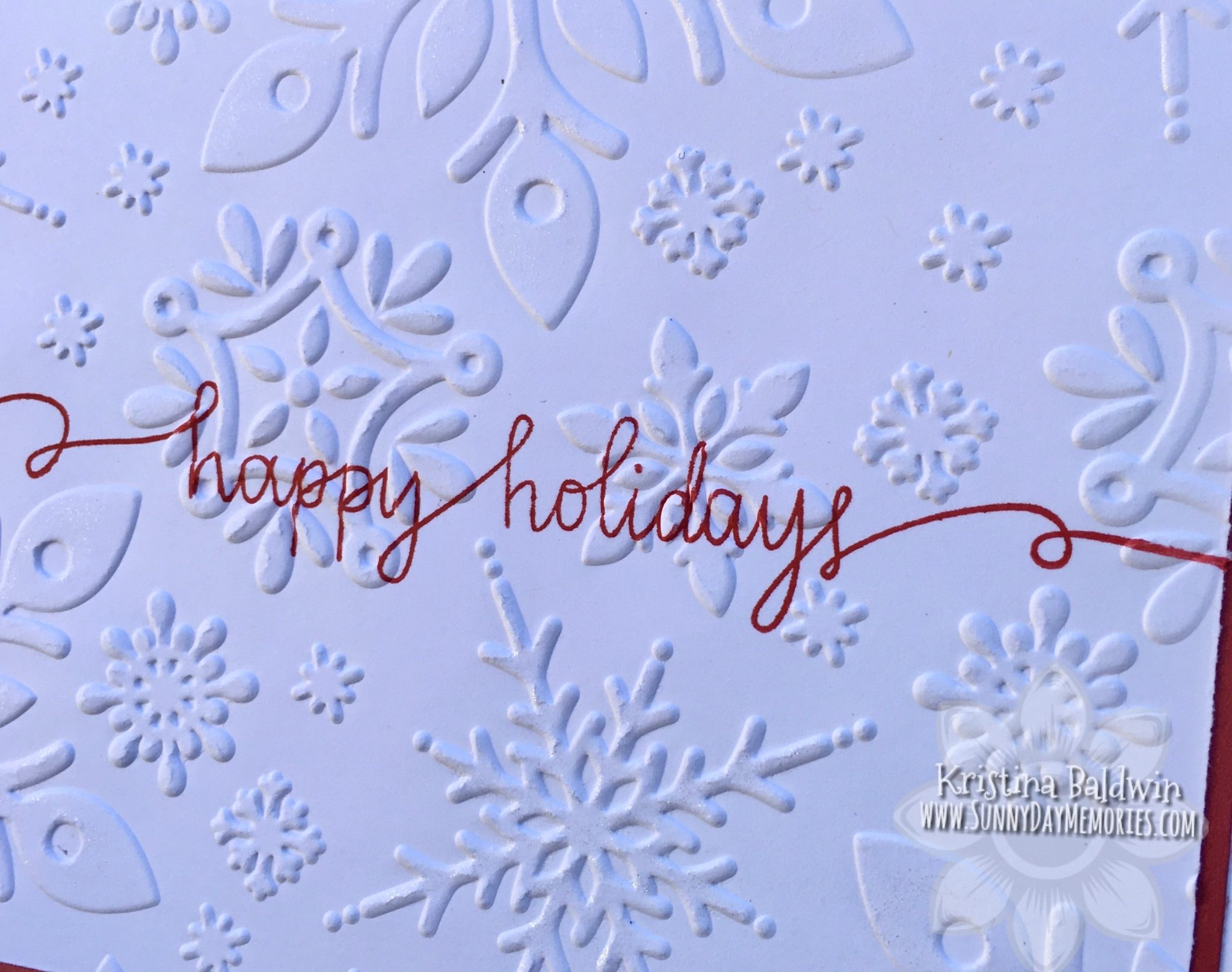 Closeup CTMH Happy Holidays Card