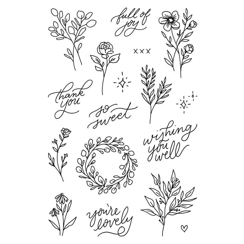 CTMH Lovely Florals Stamp Set (C1815)