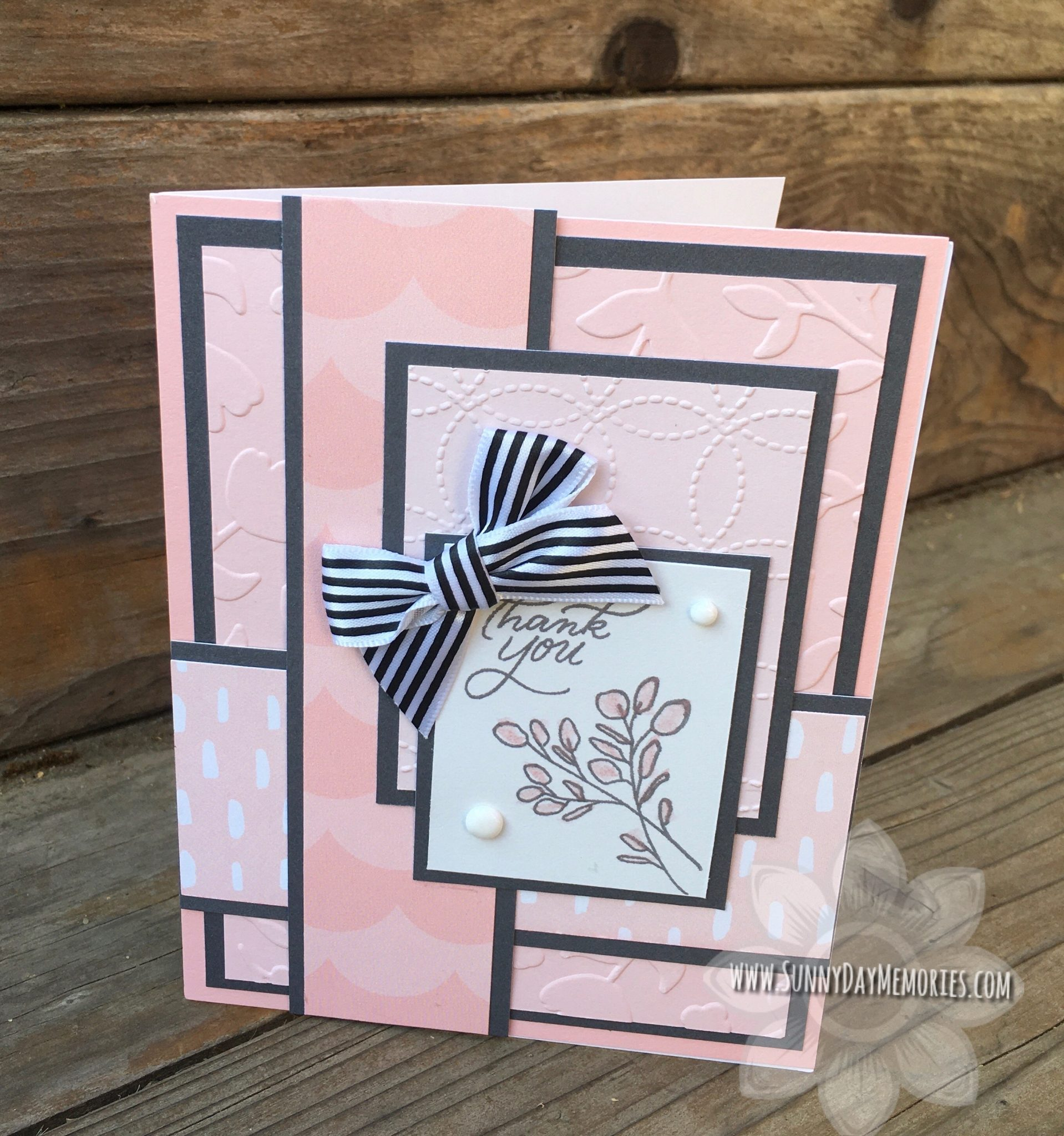 CTMH Lovely Florals Thank You Card