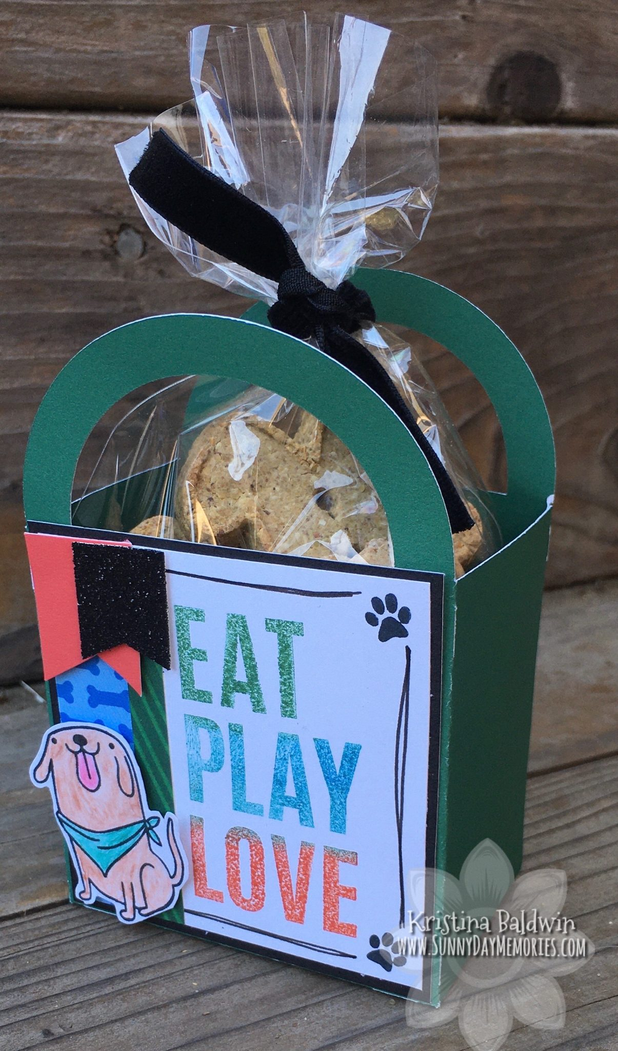 CTMH Art Philosophy Eat Play Love Dog Treat Box